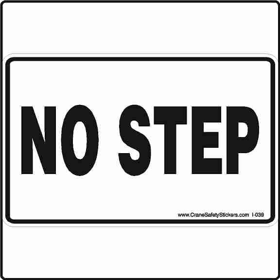 NO STEP Machine Safety Sticker