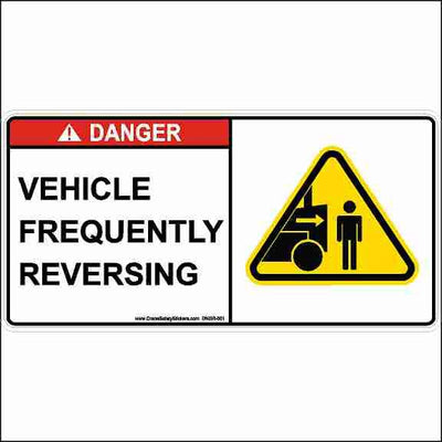 Vehicle Frequently Reversing Safety Sticker