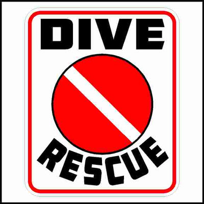 Dive Rescue Sticker