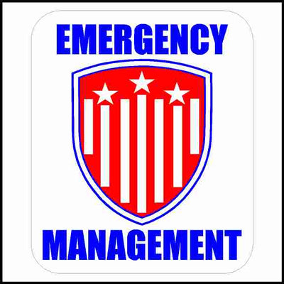 Emergency Management Hard Hat Sticker