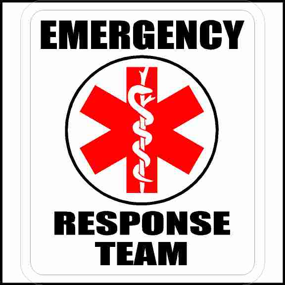 Emergency Response Team Hard Hat Sticker