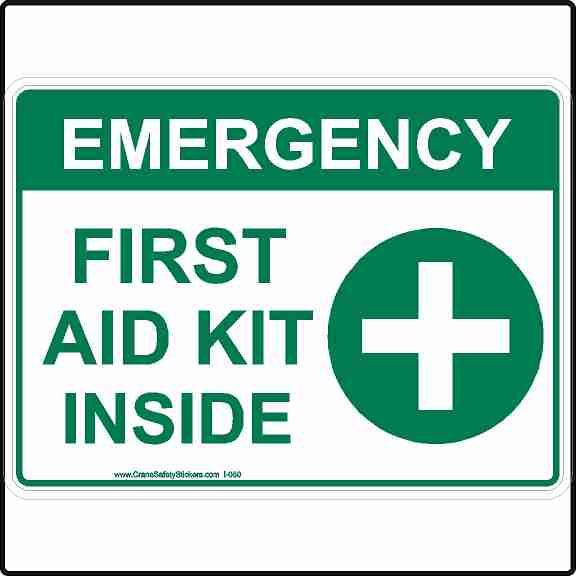 Emergency First Aid Kit Inside Safety Sign