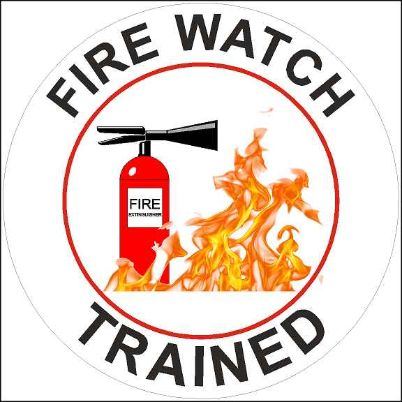Fire Watched Trained Sticker