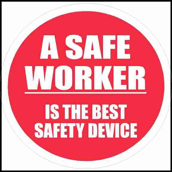 Hard Hat Sticker A Safe Worker Is The Best Safety Device
