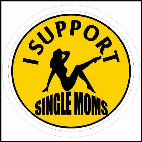 I Support Single Moms Sticker