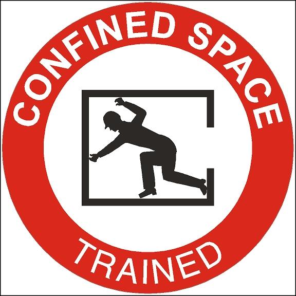 Confined Space Trained Hard Hat Sticker