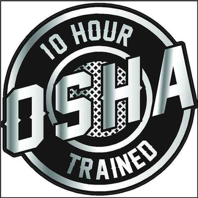 10 Hour OSHA Trained Decal