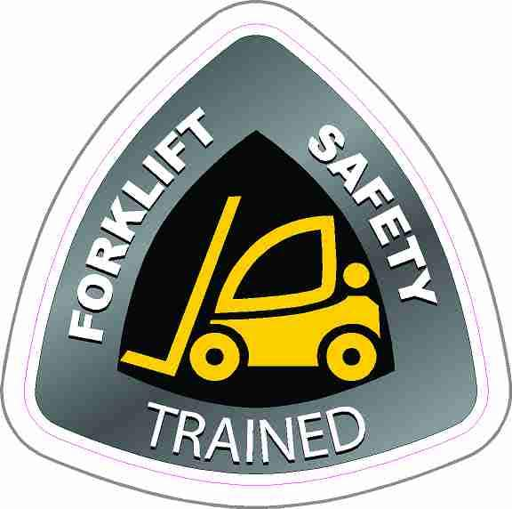 Forklift Safety Trained Hard Hat Stickers