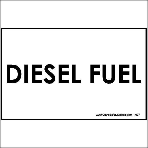 Diesel Fuel Sticker or Diesel Fuel Only Decal