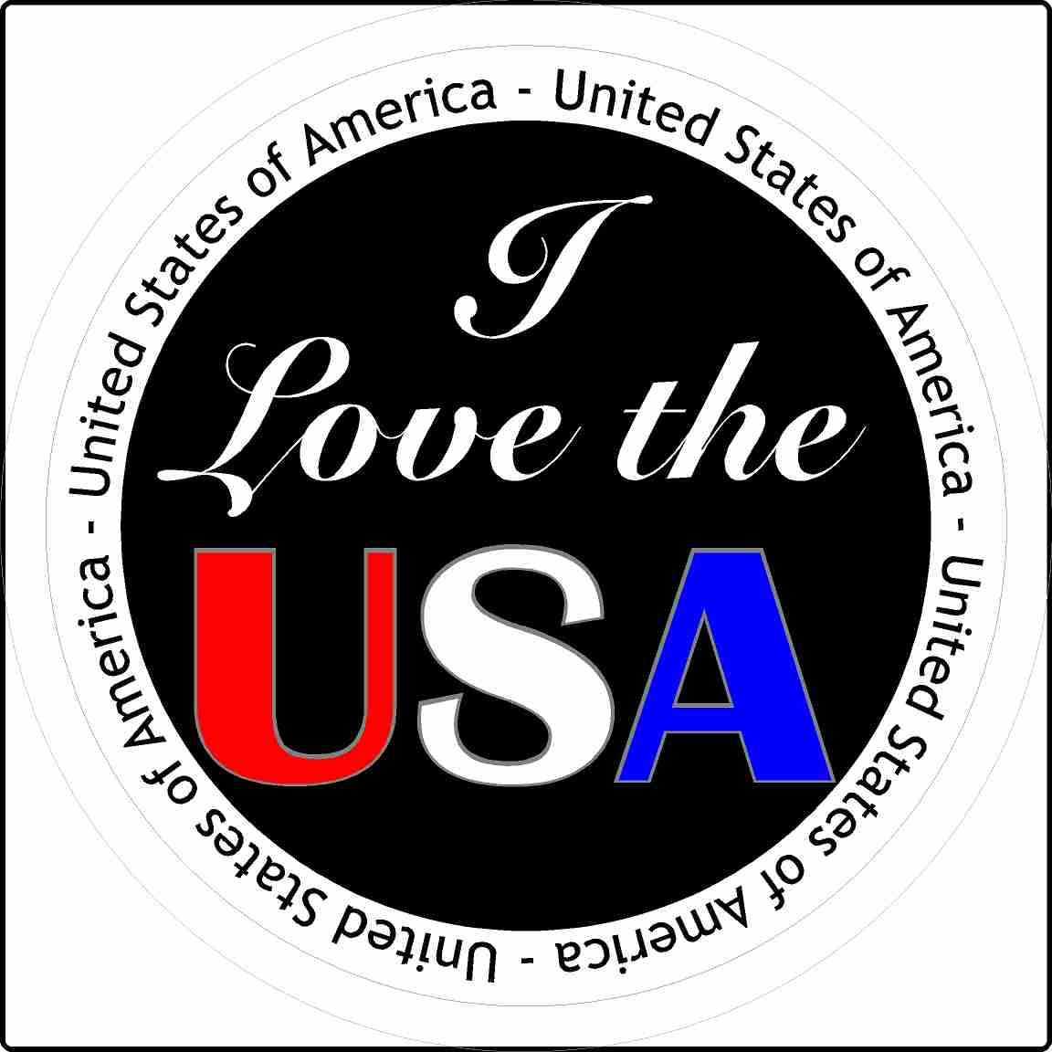 I Love The USA United States of America Sticker