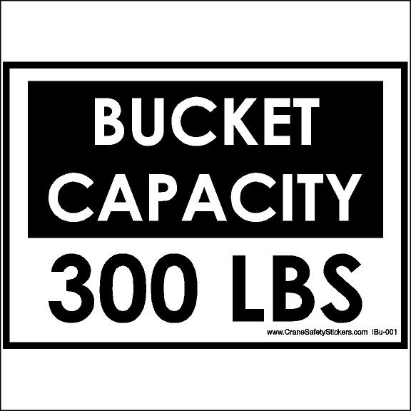 Bucket Truck Bucket Capacity 300 Lbs Sticker
