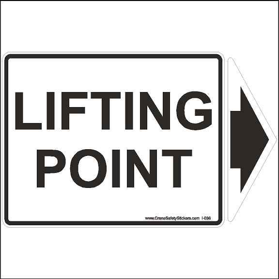 Lift point decal to show all lift points on your machinery.