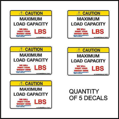 Maximum Load Capacity Sign Quantity of 5