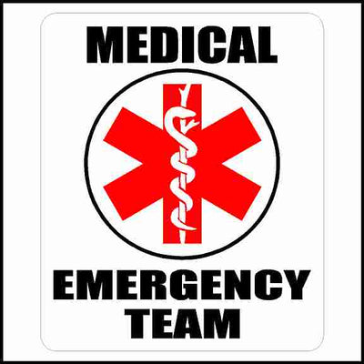 Medical Emergency Team Sticker