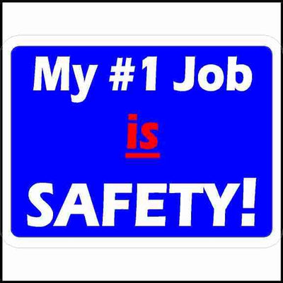 Hard Hat Decal My Number 1 Job is Safety