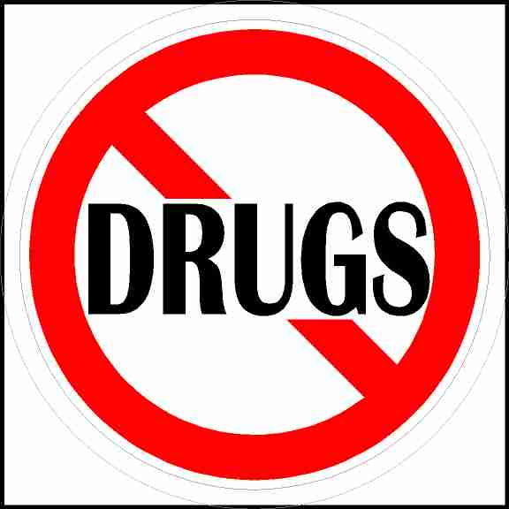 No Drugs Sticker