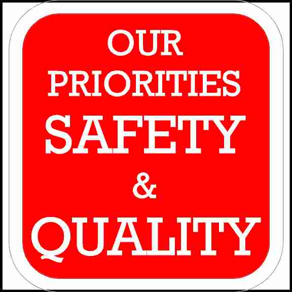 Our Priorities Safety and Quality Hard Hat Sticker