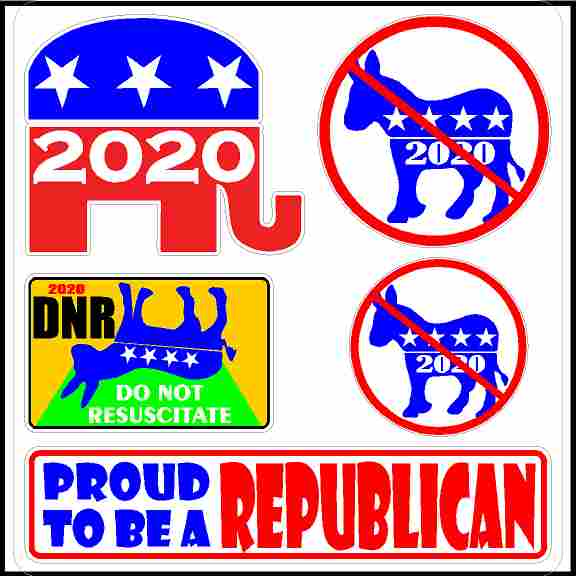 Republican Stickers - Proud to Be a Republican Stickers.