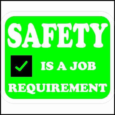 Hard Hat Safety Sticker Safety Is A Job Requirement