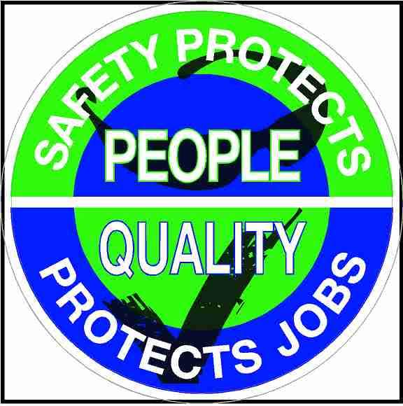 Hard Hat Sticker Safety Protects People Quality Protects Jobs