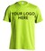 Safety Green Short Sleeve T-Shirt Printed With Your Company Logo Front