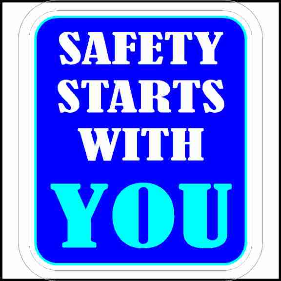 Safety Starts With You Sticker for Hard Hats