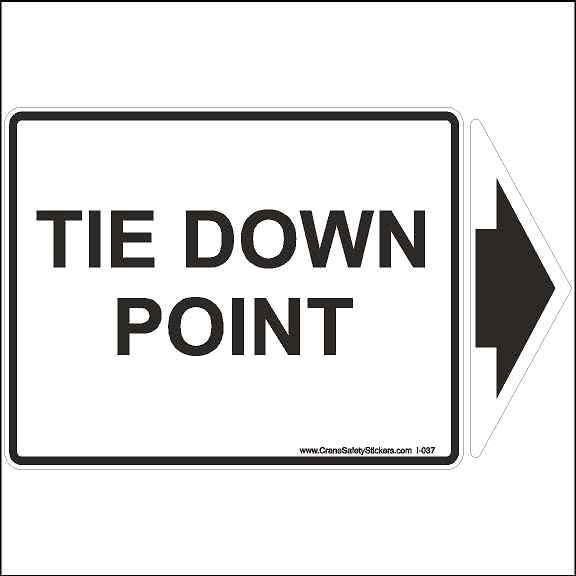 Tie Down Point Safety Sticker