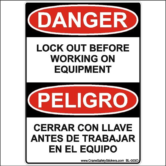 Bilingual Danger Pinch Point Peligro Punto De Aprieto Osha Ansi Safety Sticker