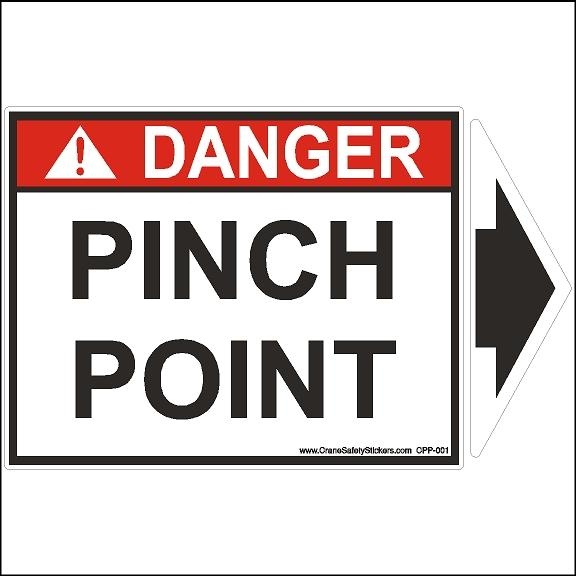 Pinch Point Safety Sticker Printing with Detachable Arrow