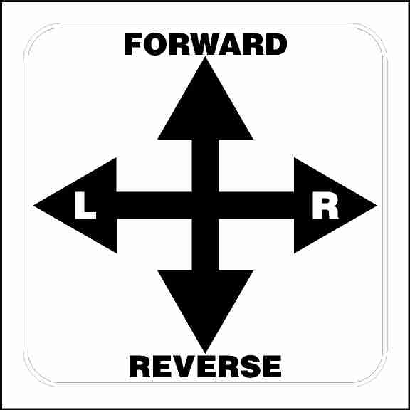 Forward Reverse Left and Right Directional Decal