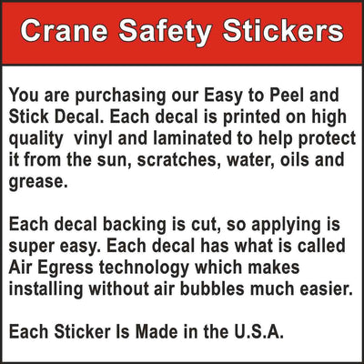 Quality of Crane Safety Stickers DANGER Failure To Obey The Following Rules Sticker