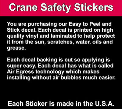 Quality of Danger Crane Power Disconnect Crane Safety Decal