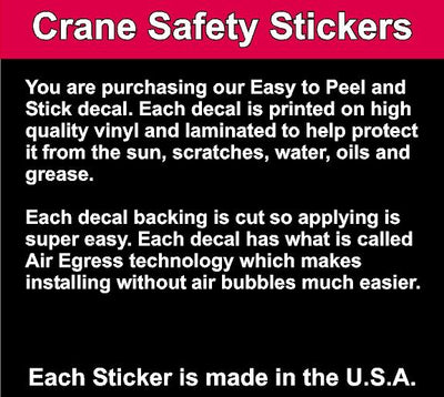 description of quality of Crane Electrical Hazard Sticker Line Voltage Crane Safety Sticker