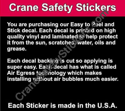 Quality of Qualified Crane Operator Hard Hat Safety Sticker Add Your Own Text.