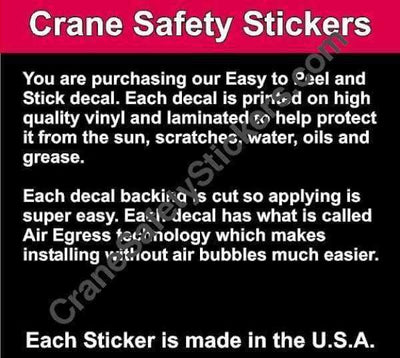 Quality of Hard Hat Sticker Custom Add Your Own Text Qualified Crane Operator