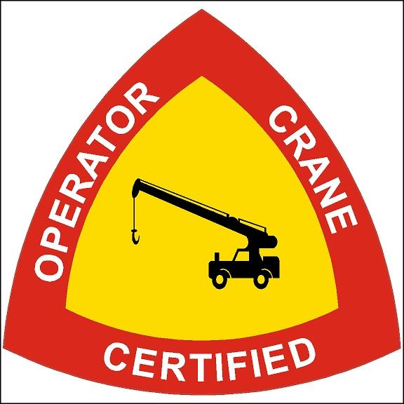Certified Crane Operator Hard Hat Sticker