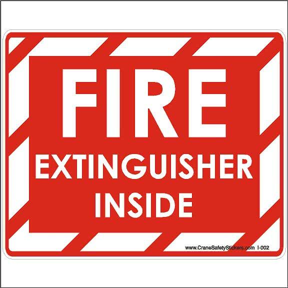 Fire Extinguisher Inside Sticker
