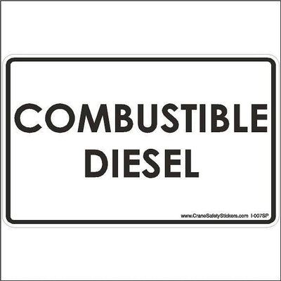 Spanish Safety Label Diesel Fuel COMBUSTIBLE DIESEL