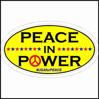 Peace in Power Sticker
