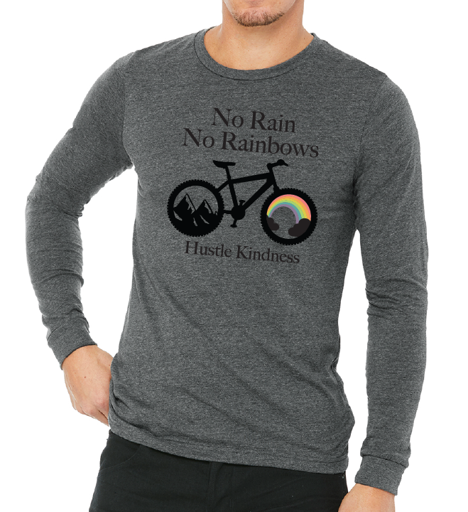 Rainbows and Bike Long Sleeve Unisex T-Shirt (SHIP DATE 8/28)