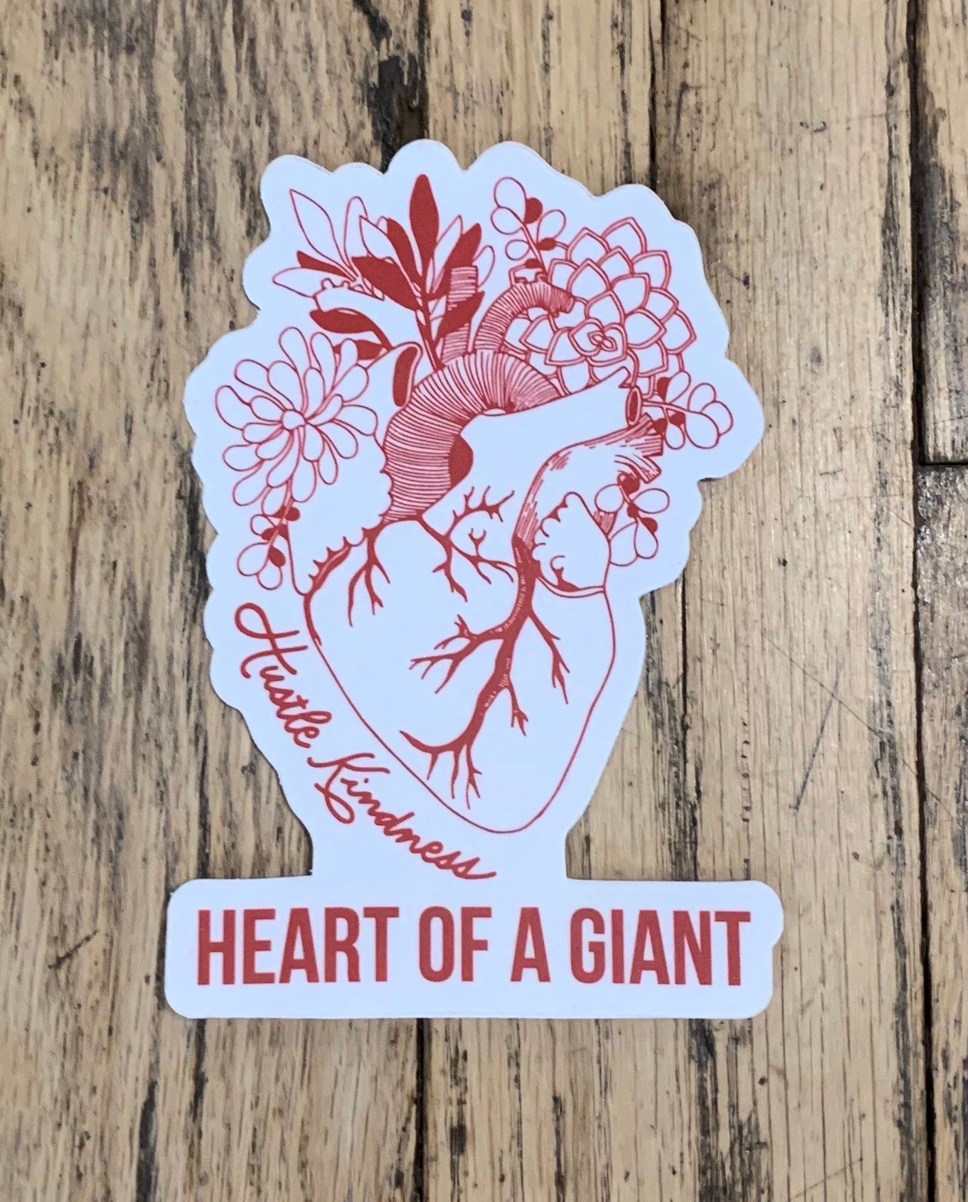 Heart of a Giant Sticker