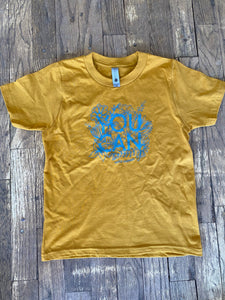 You Can Youth Tee In Antique Gold
