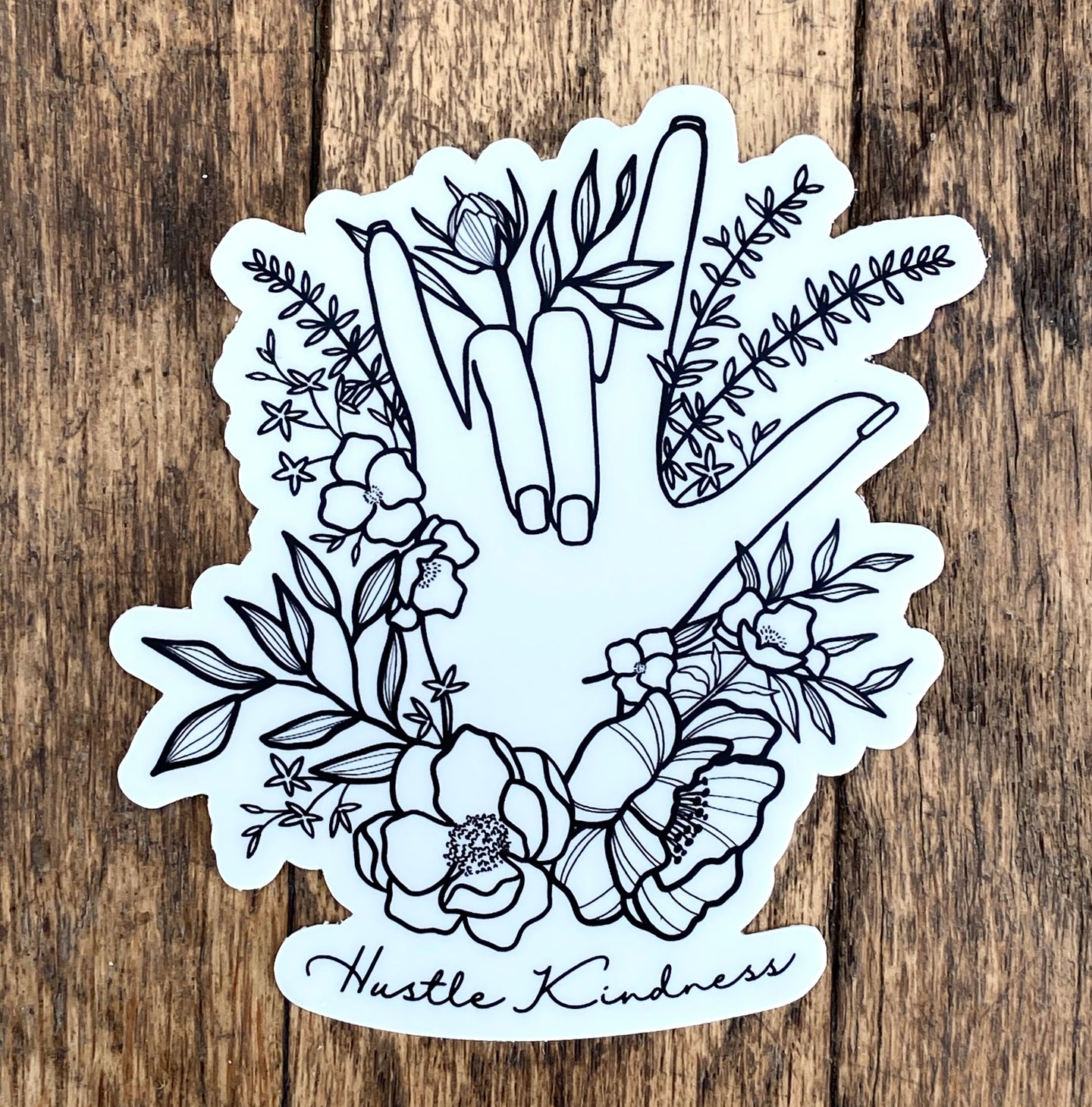 I LOVE YOU (ASL) Hustle Kindness Sticker