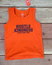 Load image into Gallery viewer, Orange/Navy youth tank top