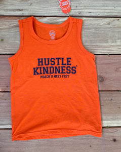 Orange/Navy youth tank top