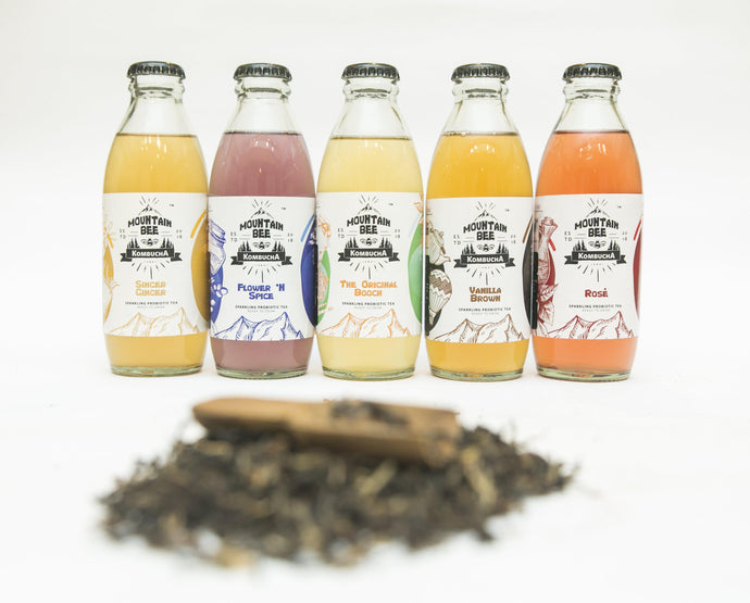 Mountain Bee Kombucha in Bangalore for gut-health, probiotics, low-calories, live-cultured drink. Ideal alternative for soda, caffeinated beverages and alcohol