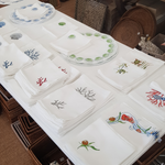 Italian Embroidered Placemats and Napkins
