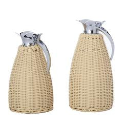 Blonde Rattan Thermos
