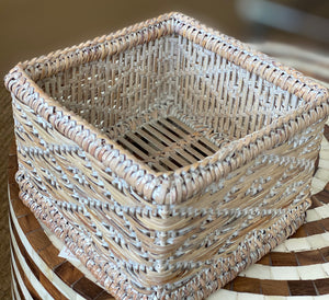 Mandalay Small Open Square Basket