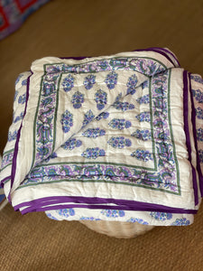 Malabar Paisley Quilt in Purple